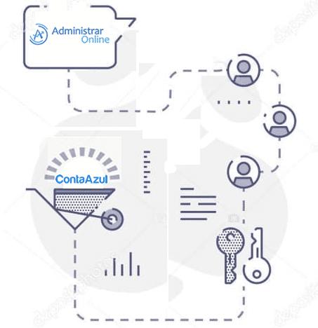ilustração administrar online e conta azul - Administrar Online - Terceirização do Financeiro - BPO Financeiro
