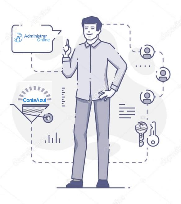 administrar online e conta azul - Administrar Online - Terceirização do Financeiro - BPO Financeiro
