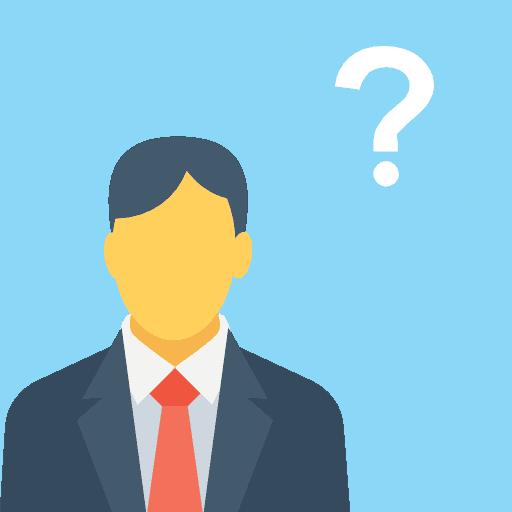 ícone homem com balão de interrogação - Administrar Online - Terceirização do Financeiro - BPO Financeiro